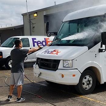 Cách rửa xe container nhanh và sạch nhất
